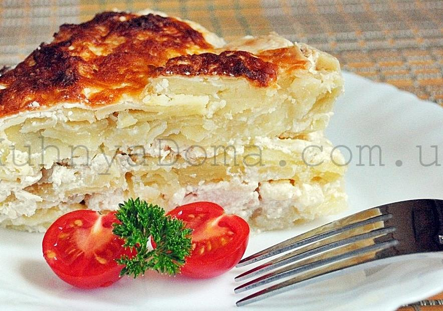 Запеканка картофельная с куриным филе