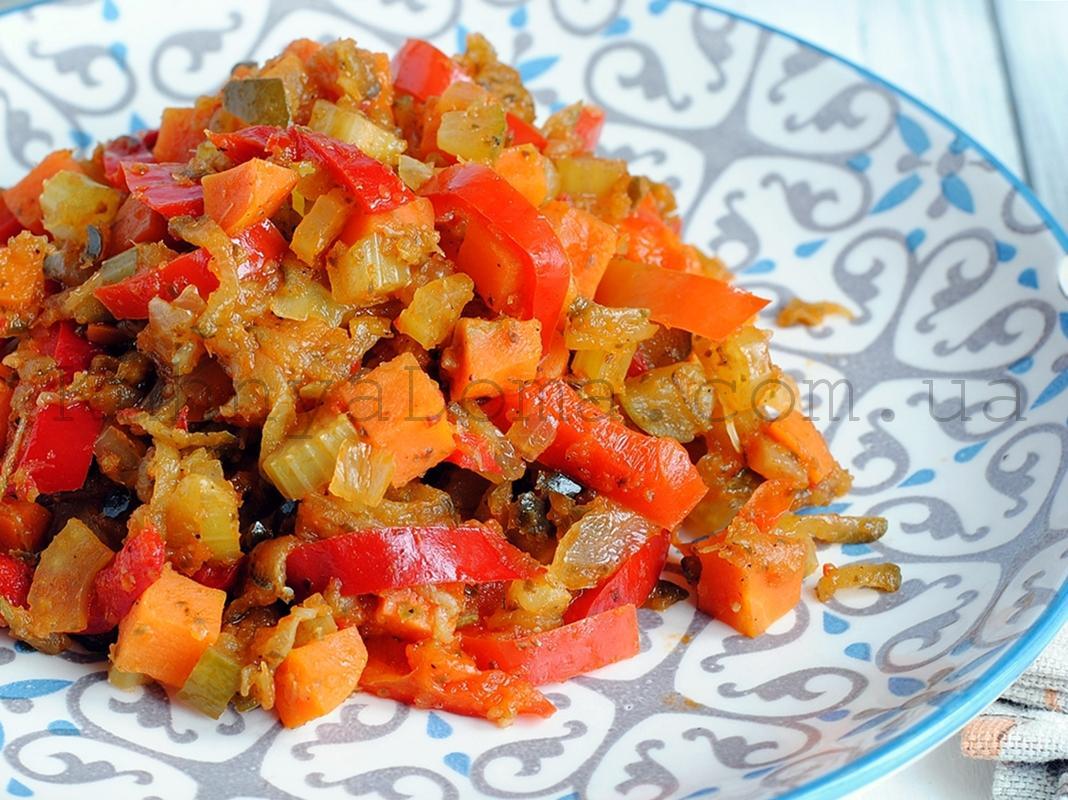 Пикантный овощной гарнир
