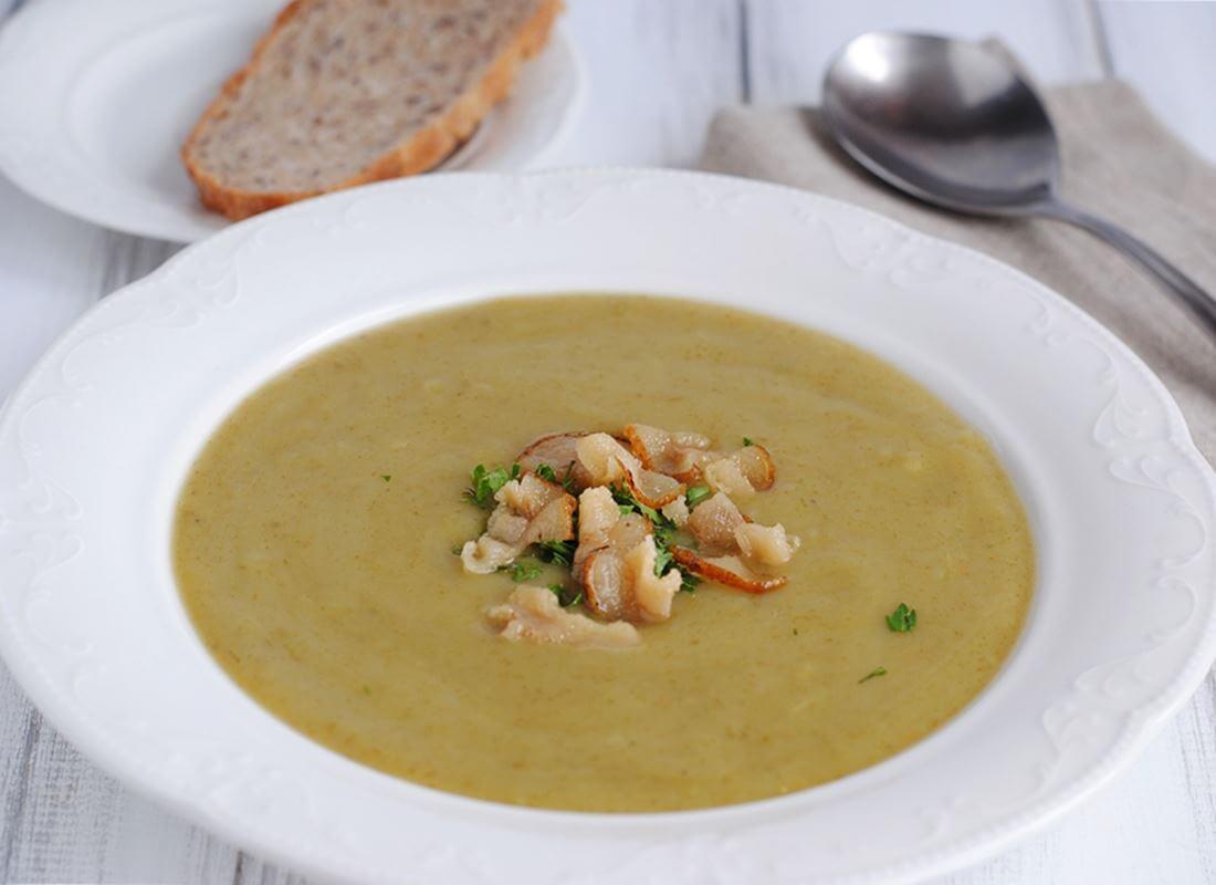 Суп-пюре из шпината по-венгерски