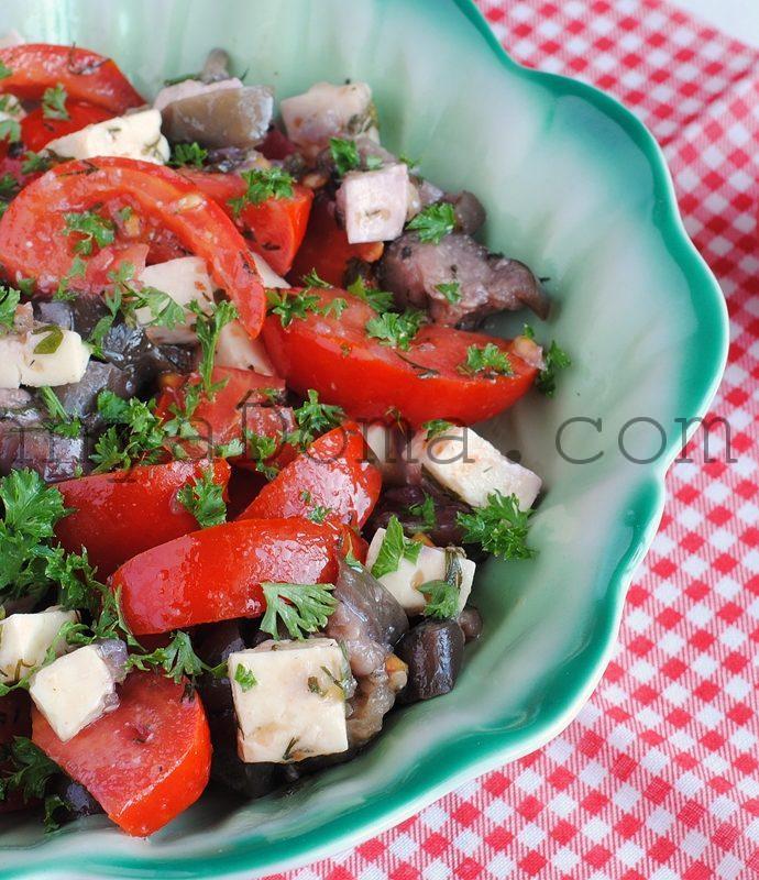 Салат с паровыми баклажанами