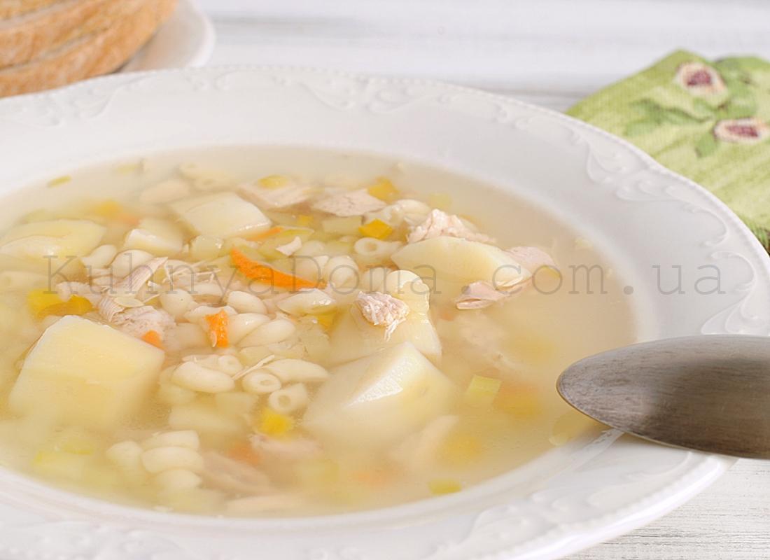 Суп куриный с овощами и вермишелью (Panasonic)