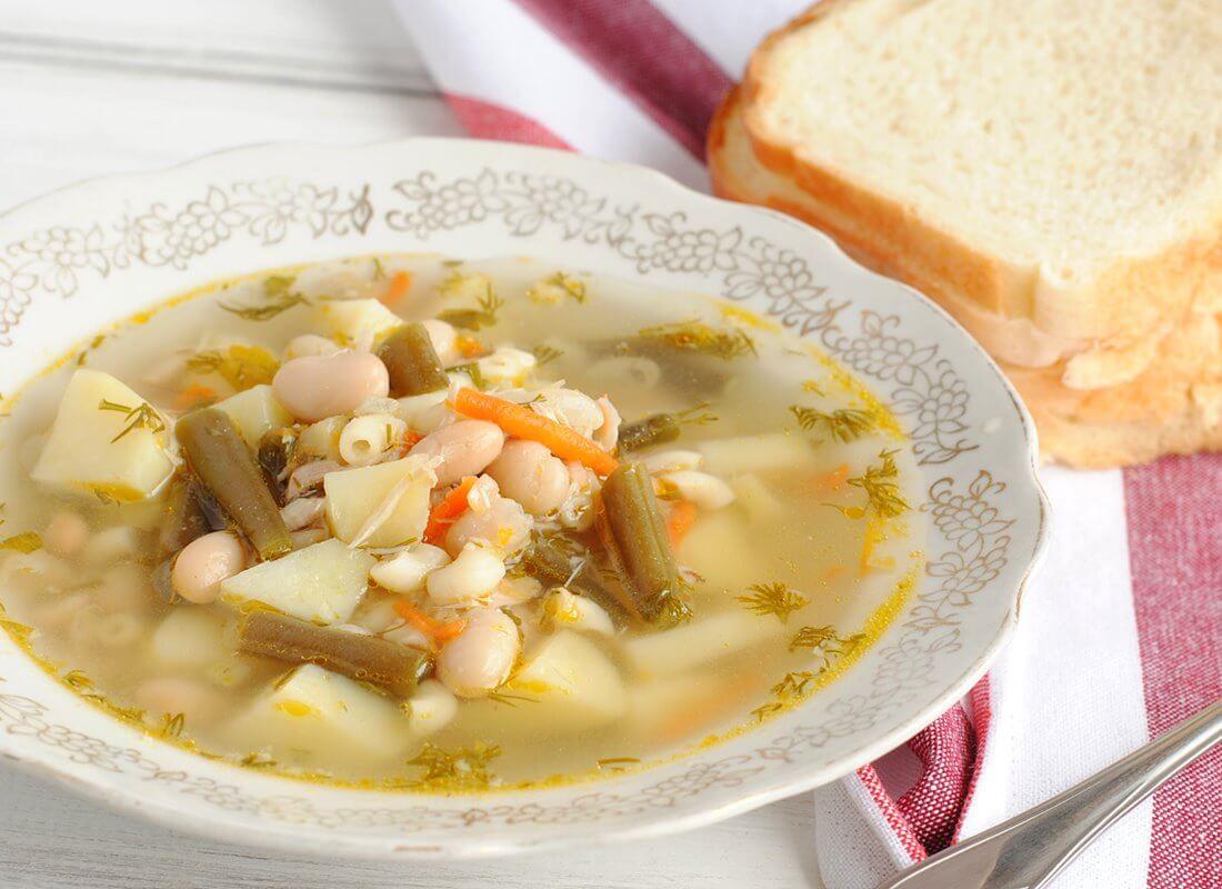 Фасолевый суп с курицей в мультиварке  (Panasonic)