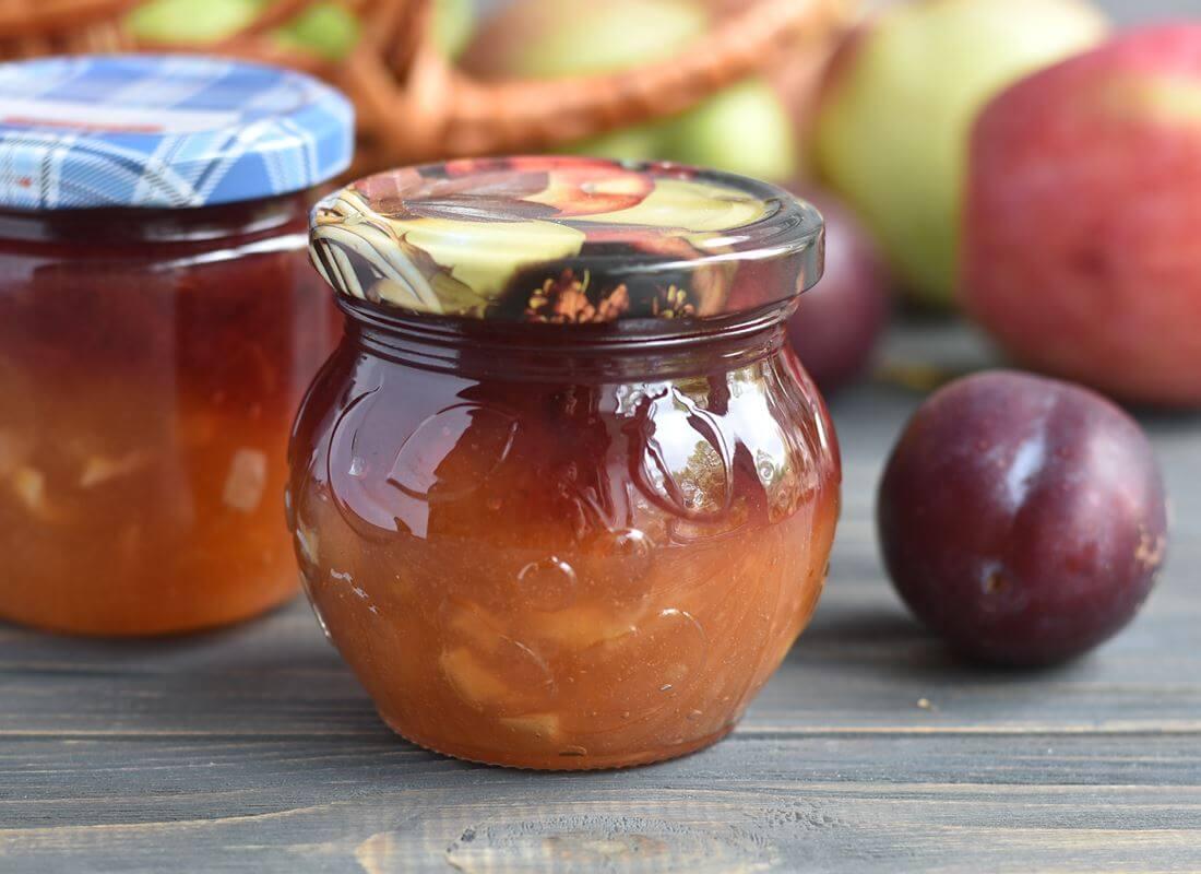 Слоеный конфитюр из яблок и сливы