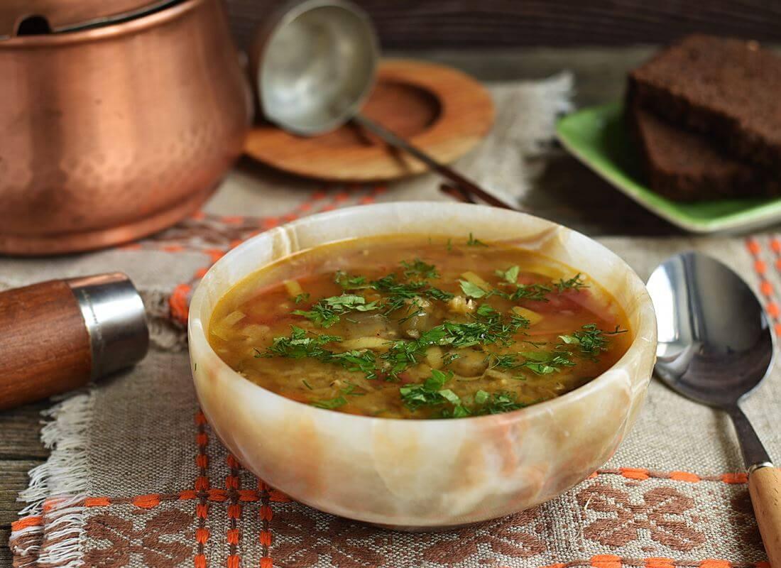 Суп из чечевицы с баклажанами в мультиварке (Panasonic)